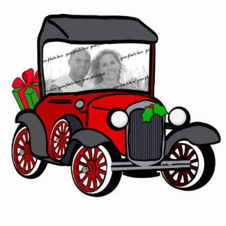 Antique Car Christmas Photo Photo Sculpture Decoration