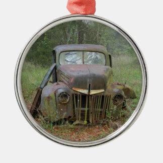 Antique car Silver-Colored round decoration