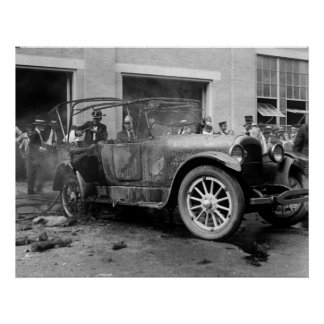 Antique Car Fire: 1921 Poster