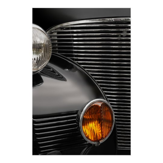 antique car grill abstract poster