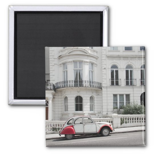 Antique Car in Notting Hill Magnet: London Square Magnet
