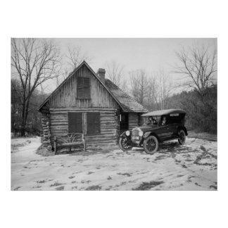 Antique Car in Rock Creek Park, 1920s Poster