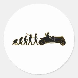 Antique Car Lover Round Stickers