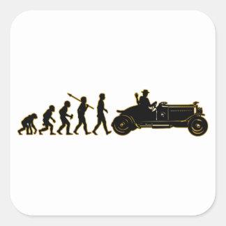 Antique Car Lover Square Sticker