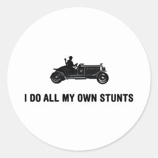 Antique Car Lover Round Sticker