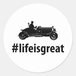 Antique Car Lover Sticker