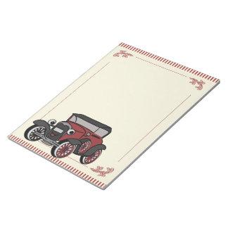 Antique Car Notepad
