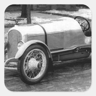 Antique CAR Photo Square Stickers