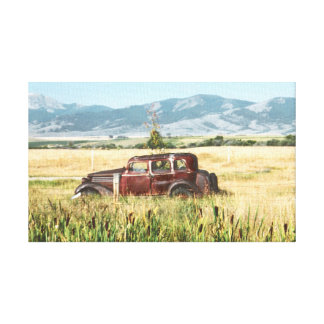 Antique Car Photograph Gallery Wrapped Canvas