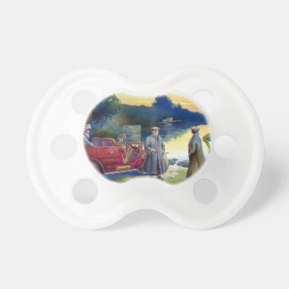 Antique Car Plane People nature painting Baby Pacifier
