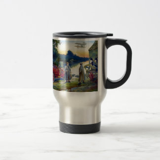 Antique Car Plane People nature painting Mugs
