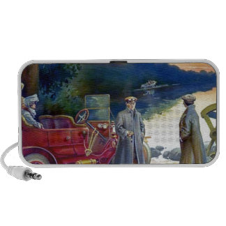 Antique Car Plane People nature painting Notebook Speakers