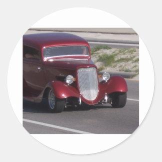 Antique Car Round Stickers