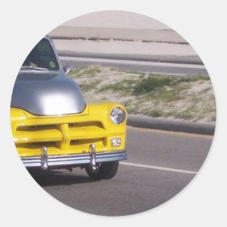 Antique Car Round Sticker