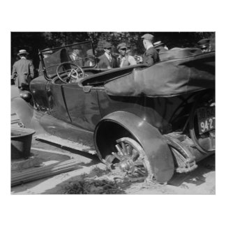 Antique Car Wreck 1918 Posters
