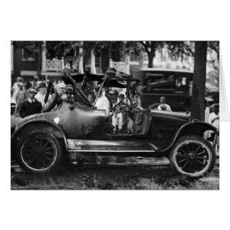 Antique Car Wreck: 1922 Greeting Card