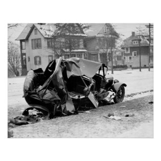 Antique Car Wreck, 1923 Poster