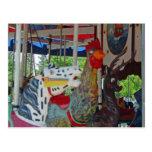 Antique Carousel Animals Post Cards