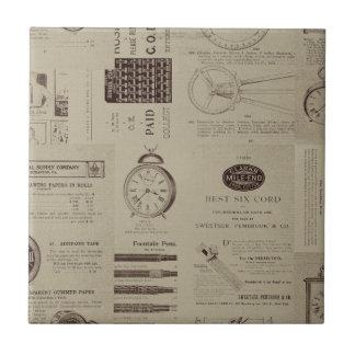 Antique Catalog Pages Ceramic Tile