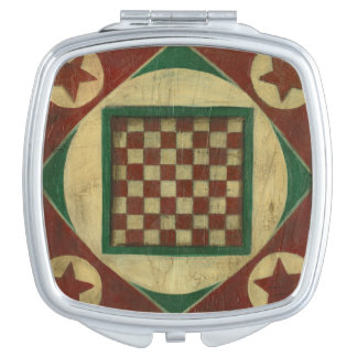 Antique Checkerboard by Ethan Harper Compact Mirrors