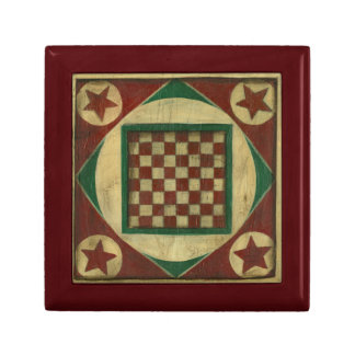 Antique Checkerboard by Ethan Harper Small Square Gift Box