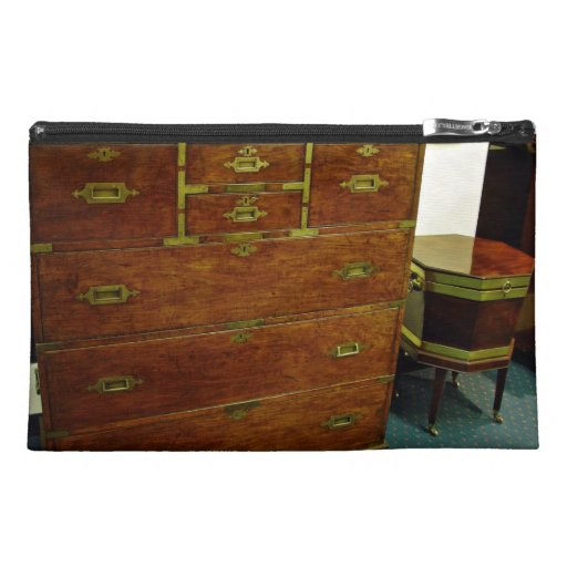 Antique chest of drawers travel accessories bag