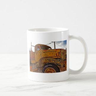 Antique Chevy Truck in Keeler, CA Basic White Mug