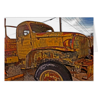 Antique Chevy Truck in Keeler, CA Greeting Card