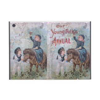 Antique Children's Book with Girl on Pony Cases For iPad Mini
