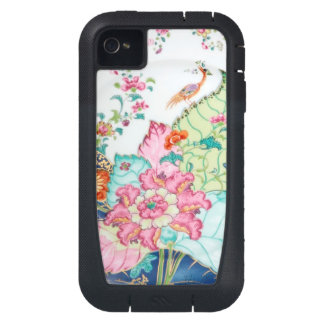Antique chinoiserie china porcelain bird pattern iPhone4 case