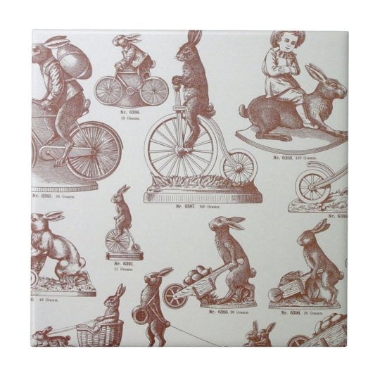 Antique Chocolate Mould Catalogue Easter Bunnies Tile