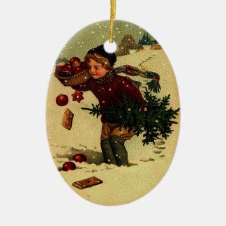 Antique Christmas Illustration Ornament