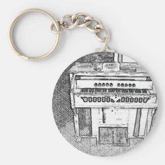 Antique Church Organ Music Key Ring