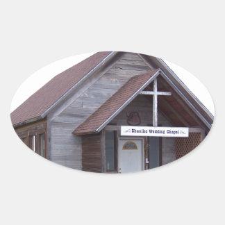 Antique Church Oval Sticker