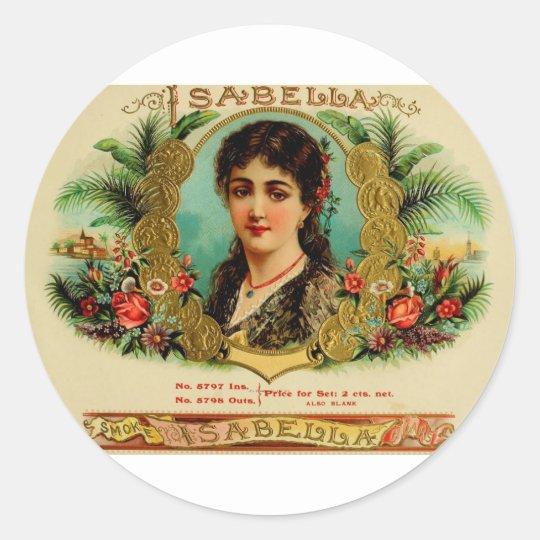 Antique Cigar Box Label Isabella (L11)