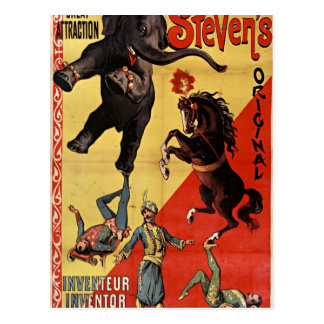 antique circus postcard