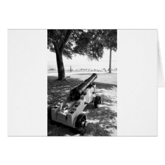 Antique Civil War Military Cannon Black and White Greeting Card