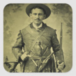 Antique Civil War Soldier Confederate Tintype Stickers