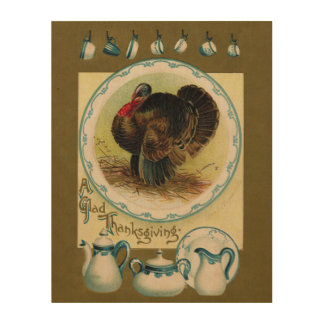 Antique Clapsaddle Thanksgiving Fall Wall Art