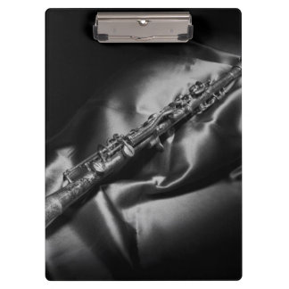 Antique clarinet still life, B&W Clipboard
