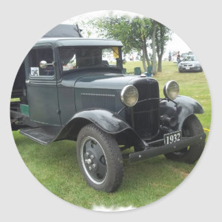 antique classic car show pic raw 006 round stickers