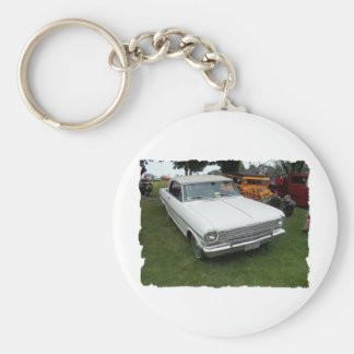 antique classic car show pic raw 010 basic round button key ring