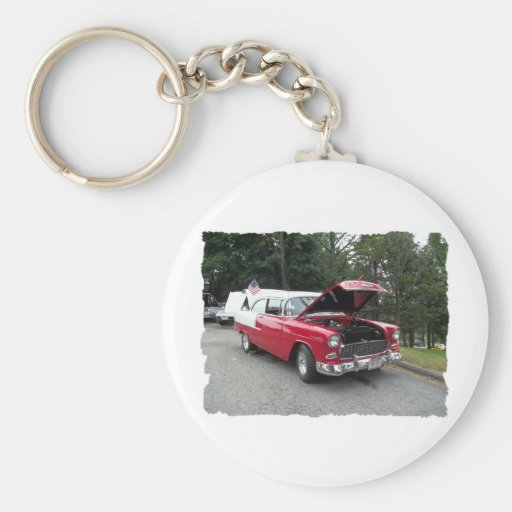 antique classic car show pic raw 012 keychain