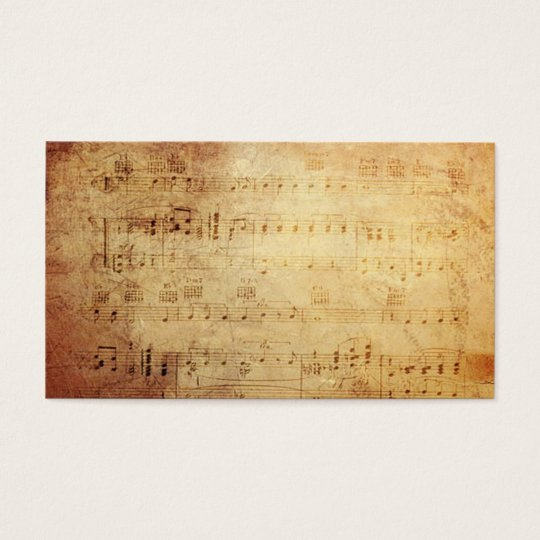 Antique Classic Music  Notes Business Card