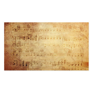 Antique Classic Music Notes Business Cards