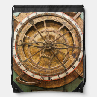 Antique clock face, Germany Drawstring Bag