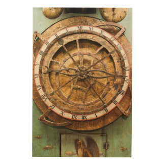 Antique clock face, Germany Wood Canvas