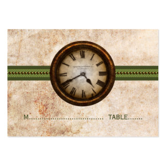 Antique Clock Place Card, Green Pack Of Chubby Business Cards