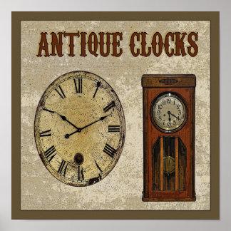 Antique Clocks Poster