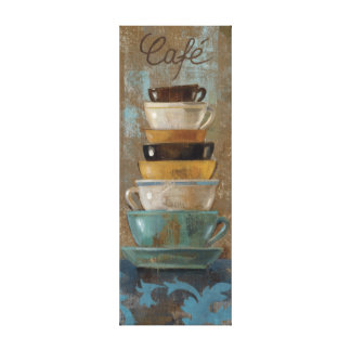 Antique Coffee Cups Canvas Print